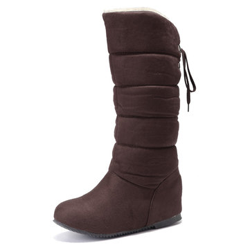 Large Size Heel Increasing Boots-Newchic-Multicolor