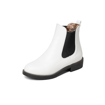 Large Size PU Leather Platform Boots-Newchic-Multicolor