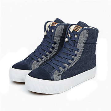 M.GENERAL Cotton Canvas Boots-Newchic-Blue