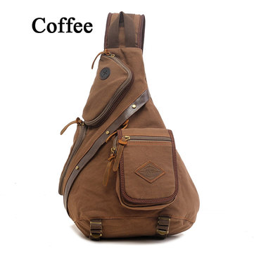 Men Women Canvas Retro Casual Outdoor Shoulder Chest Crossbody Bag-Newchic-