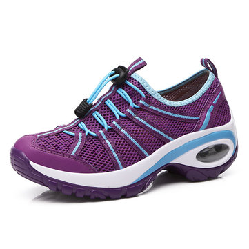 Mesh Elastic Platform Resistant Running Sport Sneakers For Women-Newchic-Multicolor
