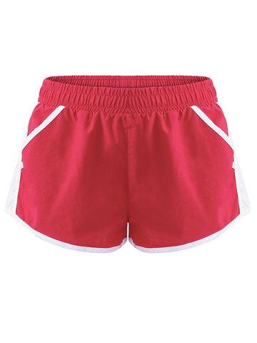 Mesh Patchwork Pockets Sport Shorts-Newchic-