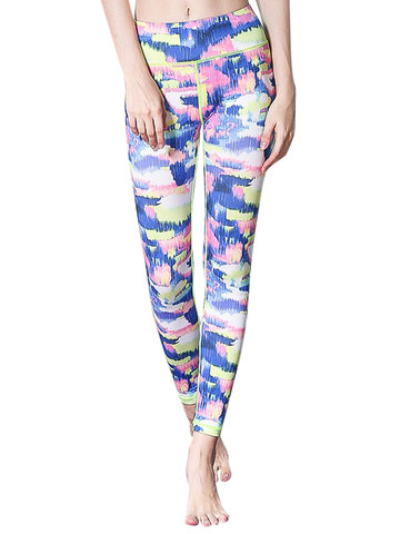 Mid Waist Patchwork Yoga Pants for Women-Newchic-
