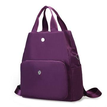 Multifunctional Women Waterproof Casual Nylon Handbag Shoulder Bag Backpack-Newchic-