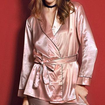 Nightwear Robe Sleepwear Pajamas-Newchic-