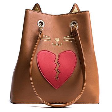 PU Cute Cat Handbag-Newchic-