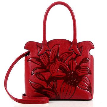 PU Floral Embroidery Handbag-Newchic-