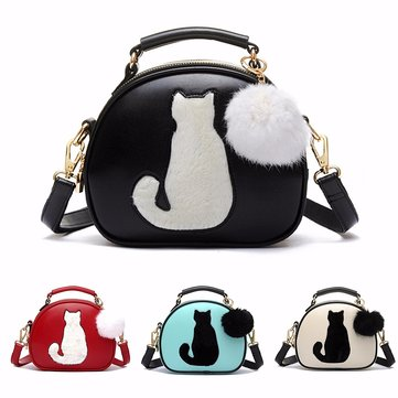 PU Leather Animal Print Crossbody Bag Fox Bag Shoulder Bag-Newchic-