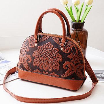 PU Leather Embroidery Handbag-Newchic-
