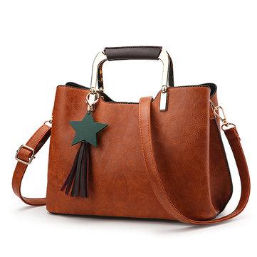 PU Leather Retro Tote Bag-Newchic-