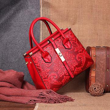 PU Retro Embroidery Handbag-Newchic-