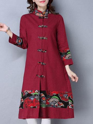 Print Patchwork Women Coats-Newchic-