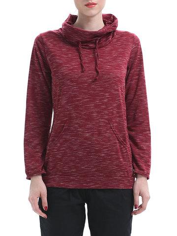 Printed Turtleneck Sweatshirts For Women-Newchic-