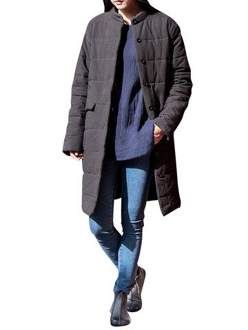 Pure Color Cotton Winter Coats-Newchic-