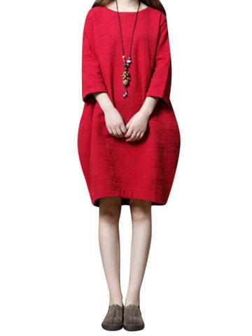 Pure Color Thicken Women Dresses-Newchic-