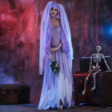 Role Play Costumes White Zombie-Newchic-