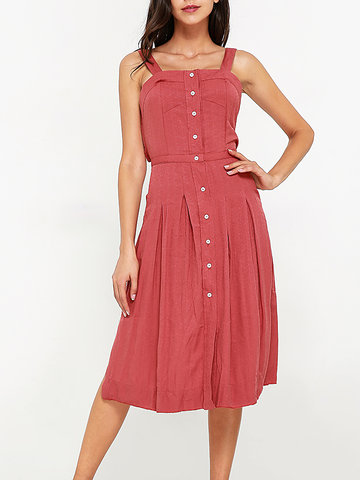 Sexy Women Spaghetti Strap Backless Dresses-Newchic-