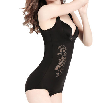 Shapewear Seamless Push Up Gather Shaping Printed-Newchic-