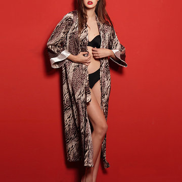 Soft Leopard Printed Smoothly Sleepwear-Newchic-