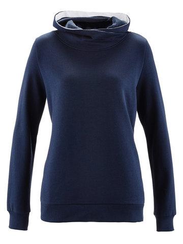 Solid Color Turtleneck Hooded Women Hoodie-Newchic-
