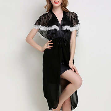 Split Skirt Breathable Sleepwear-Newchic-