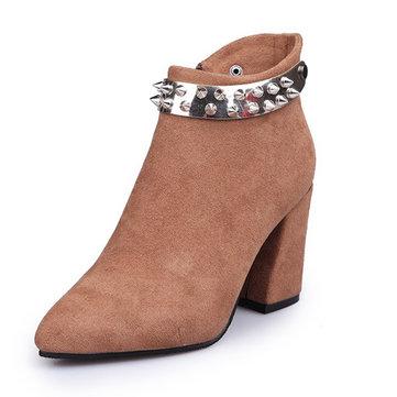 Suede Comfortable Warm Boots-Newchic-Multicolor