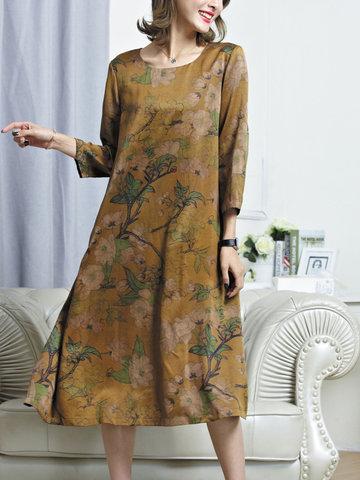 TangJie Casual Loose Printed Women Dresses-Newchic-