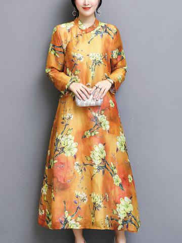TangJie Printed A-Line Women Dresses-Newchic-
