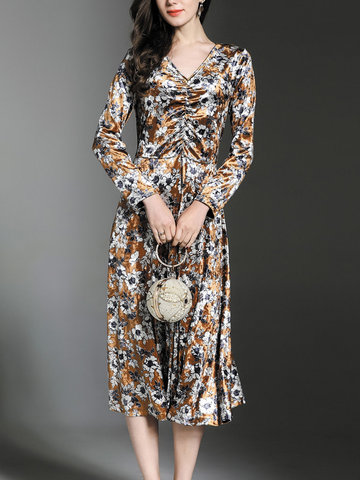 TangJie Sexy Bodycon Women Velvet Dresses-Newchic-