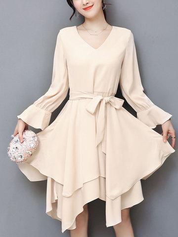 TangJie Sexy Women Asymmetrical Dresses-Newchic-