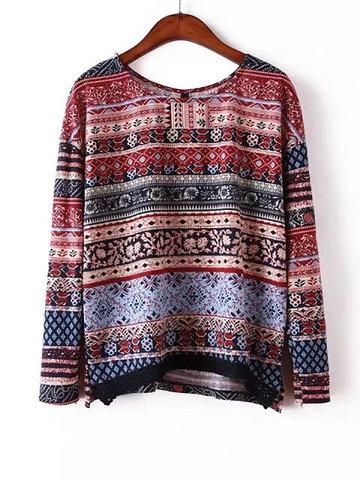 Vintage Bohemian Printed Shirts-Newchic-