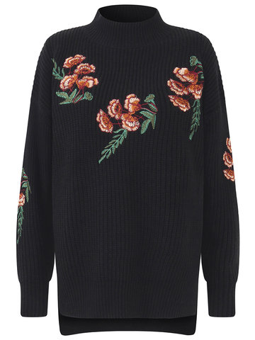 Vintage Embroidery Women Sweaters-Newchic-