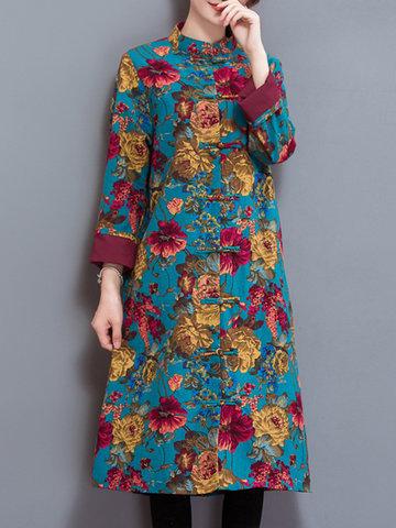 Vintage Ethnic Loose Coats-Newchic-