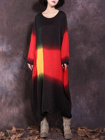 Vintage Gradient Long Maxi Dresses-Newchic-