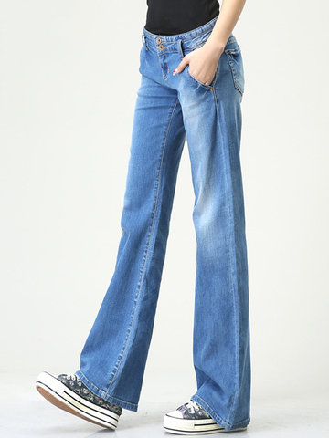 Vintage Light Blue Wide Leg Jean-Newchic-