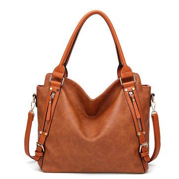 Vintage PU Leather Multi-color Handbag-Newchic-