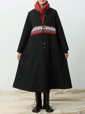 Vintage Patchwork Thicken Coats-Newchic-