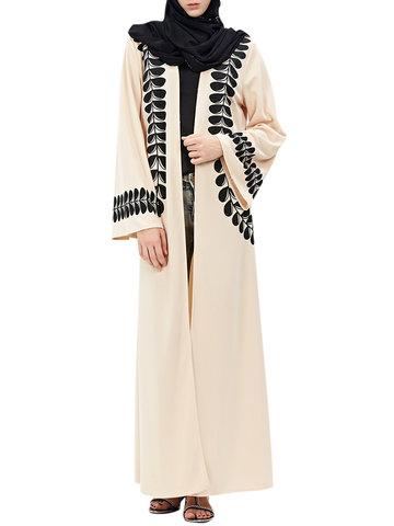 Vintage Women Print Long Sleeve Maxi Kimonos-Newchic-