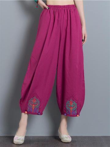 Vintage Women Wide Leg Pants-Newchic-
