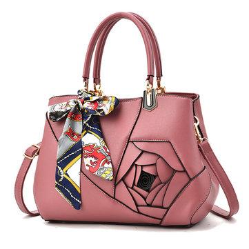 WOMEN Elegant Flower Pattern Scarves Handbag-Newchic-