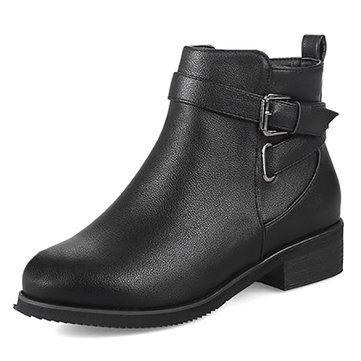 Warm Buckle Stylish Boots-Newchic-Multicolor