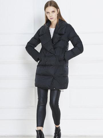 Warm Turn-down Collar Down Coats-Newchic-
