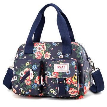 Waterproof Floral Print Crossbody Bag Large Capacity Tote Bag-Newchic-