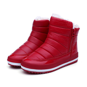 Waterproof Platforms Warm Snow Boots-Newchic-Multicolor