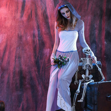 White Zombie Ghost Bride Cosplay-Newchic-