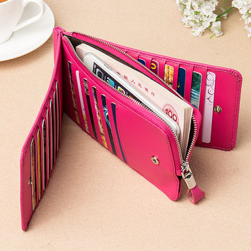 Women 26 Card Purse Genuine Leather Elegant Multi Card Holde-Newchic-