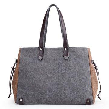 Women Canvas Large Capacity Handbag-Newchic-