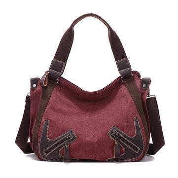 Women Canvas Large Capactiy Handbag Casual Shoulder Bags Crossbody Bags-Newchic-