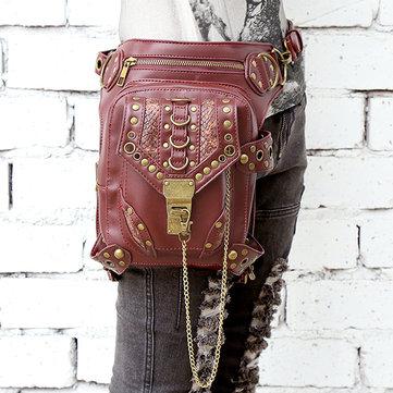 Women Casual Cool Rivet Multiduty Shoulder Bag Crossbody Bag Leg Bags-Newchic-