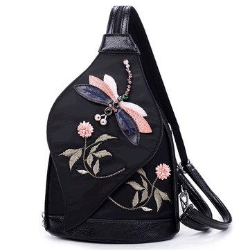 Women Creative Dragonfly Cartoon Decoration Chest Bag Shoulder Bag Backpack-Newchic-